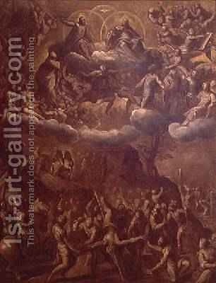 The Crucifixion of St. Peter, c.1615 by Jacopo d'Antonio Negretti (see Palma Giovane) - Reproduction Oil Painting