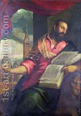 St. Mark by Jacopo d'Antonio Negretti (see Palma Giovane) - Reproduction Oil Painting