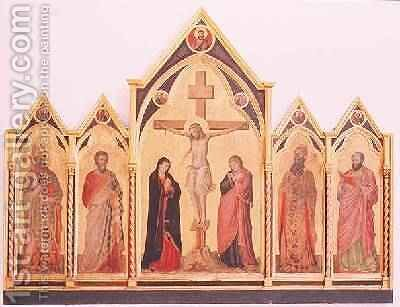 Crucifixion with Saints, 1310 by Buonaguida Pacino di - Reproduction Oil Painting