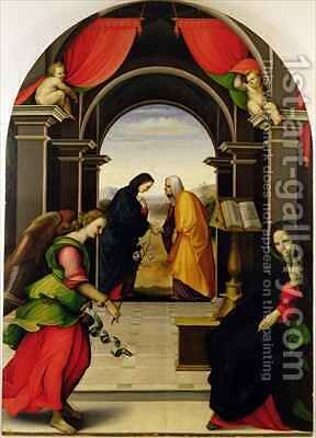 The Annunciation and the Visitation, 1518 by Girolamo Del Pacchia - Reproduction Oil Painting