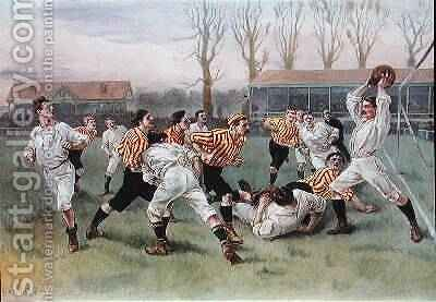 The Football Match, 1890 by (after) Overend, William Heysham - Reproduction Oil Painting