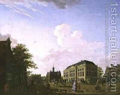 A View on the Leidse plein in Amsterdam, 1778 by Isaak Ouwater - Reproduction Oil Painting