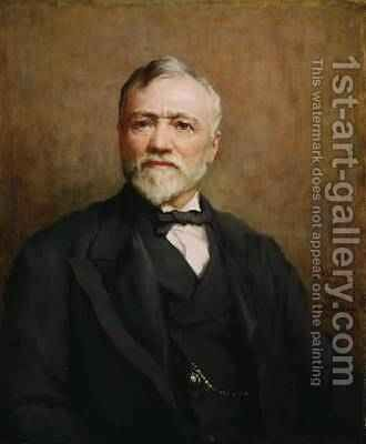 Andrew Carnegie 1835-1919 after a portrait by Walter William Ouless 1848-1933, 1925 by Catherine Ouless - Reproduction Oil Painting