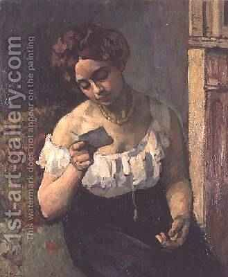 The Letter, 1903 by Henri Ottmann - Reproduction Oil Painting
