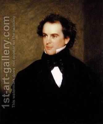 Nathaniel Hawthorne 1804-64 1840 by Charles Osgood - Reproduction Oil Painting