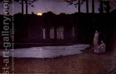 Songs of the Night by Alphonse Osbert - Reproduction Oil Painting