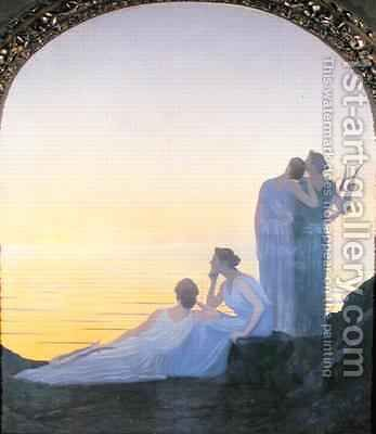 An Evening in Ancient Times, 1908 by Alphonse Osbert - Reproduction Oil Painting