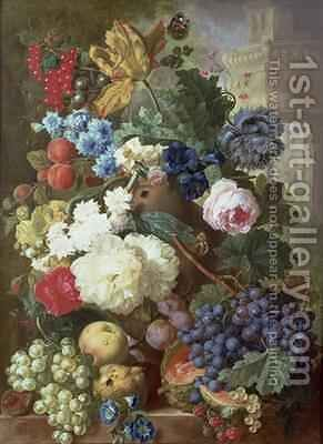 Flowers and Fruit 2 by Jan van Os - Reproduction Oil Painting