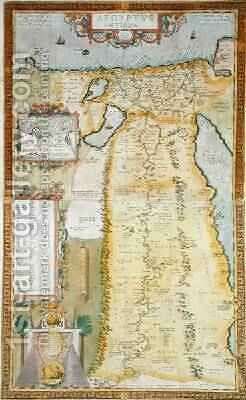 Map of Ancient Egypt, 1584 by Abraham Ortelius - Reproduction Oil Painting