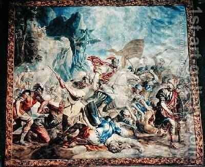 The Battle of the Israelites and Amelikites by (after) Orley, Jan van - Reproduction Oil Painting