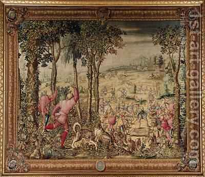 The Hunts of Maximilian Scorpio The Stag Hunt The Rush for the Spoils by (after) Orley, Bernard van - Reproduction Oil Painting