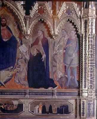 The Strozzi Altarpiece 1357 5 by Andrea Orcagna - Reproduction Oil Painting