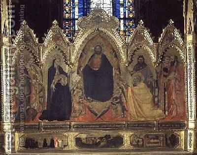 The Strozzi Altarpiece 1357 6 by Andrea Orcagna - Reproduction Oil Painting