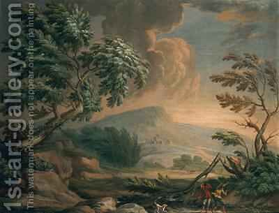Landscape with Storm by Crescenzio Onofri - Reproduction Oil Painting