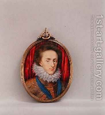 Portrait of Henry Prince of Wales 1594-1612 1610 by Isaac Oliver - Reproduction Oil Painting