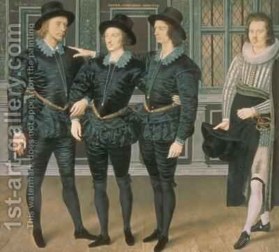 The Browne Brothers 1598 by Isaac Oliver - Reproduction Oil Painting