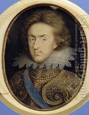 Miniature portrait of Henry 1594-1612 Prince of Wales by Isaac Oliver - Reproduction Oil Painting