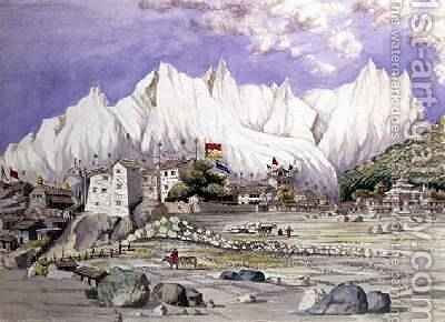 Town of Keelung May 1855 by Dr. H.A. Oldfield - Reproduction Oil Painting