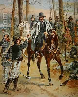 General Grant in the Wilderness Campaign 5th May 1864 by Henry Alexander Ogden - Reproduction Oil Painting