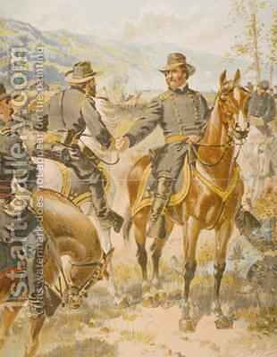 General George Henry Thomas 1816-70 at the battle of Chickamauga 20th September 1863 by Henry Alexander Ogden - Reproduction Oil Painting