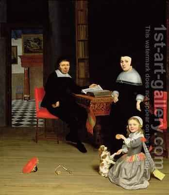 Portrait of a Family 1663 by Jacob Ochtervelt - Reproduction Oil Painting