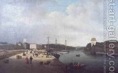 Westport Quay 1818-19 by James Arthur O'Connor - Reproduction Oil Painting