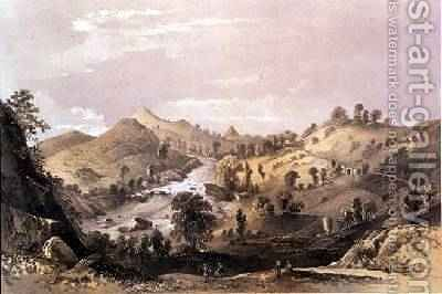 Adams Peak from the Ambogammoa Road at Pushbage Ceylon 1864 by Captain C. O'Brien - Reproduction Oil Painting