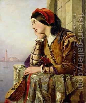 Woman in Love 1856 by Henry Nelson O'Neil - Reproduction Oil Painting