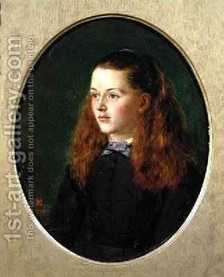 Portrait of Fanny Frith 1870 by Henry Nelson O'Neil - Reproduction Oil Painting