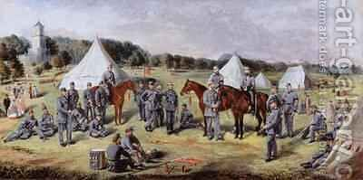 The 1st Administrative Batallion of the Norfolk Volunteers at Gunton Park 1864 by Claude Lorraine R.W Nursey - Reproduction Oil Painting