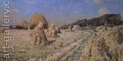 Corn Stooks in a Field by Alexandre Nozal - Reproduction Oil Painting