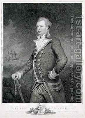 Portrait of Admiral John Macbride by James Northcote, R.A. - Reproduction Oil Painting