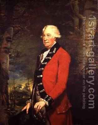 Sir Ralph Milbanke 6th Baronet in the Uniform of the Yorkshire North Riding Militia 1784 by James Northcote, R.A. - Reproduction Oil Painting