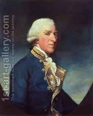 Admiral Samuel Hood 1st Viscount Hood 1724-1816 1784 by James Northcote, R.A. - Reproduction Oil Painting