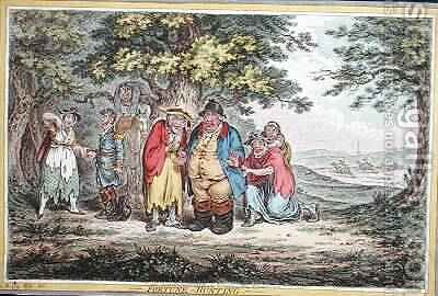 Fortune Hunting etched by James Gillray 1757-1815 by (after) North, Brownlow - Reproduction Oil Painting