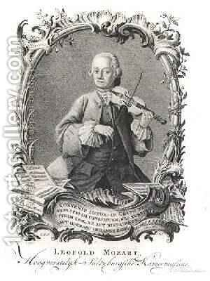 Portrait of Leopold Mozart 1719-87 Austrian violinist and composer by (after) Noorde, Cornelis van - Reproduction Oil Painting