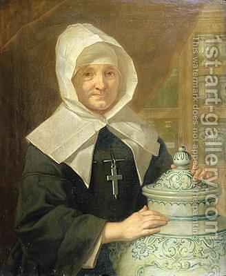 Sister Claudine Pila by (attr. to) Nonotte, Donat - Reproduction Oil Painting