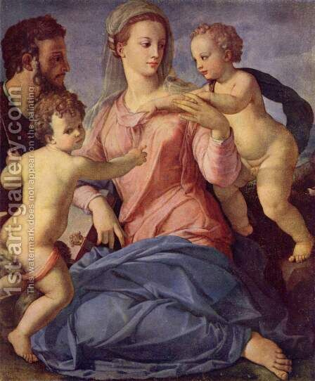 Holy Family by Agnolo Bronzino - Reproduction Oil Painting