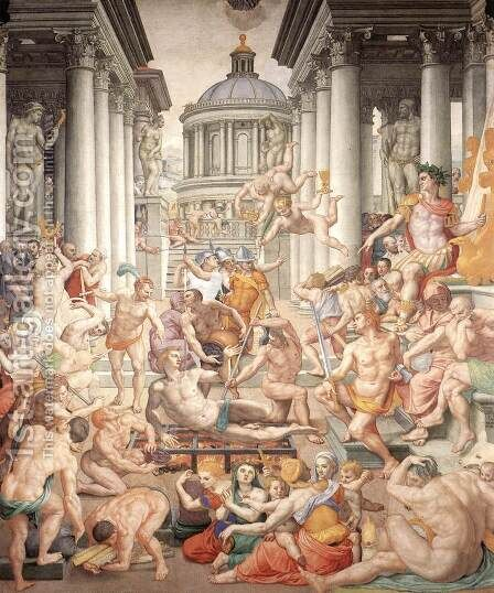 Martyrdom of St Lawrence by Agnolo Bronzino - Reproduction Oil Painting