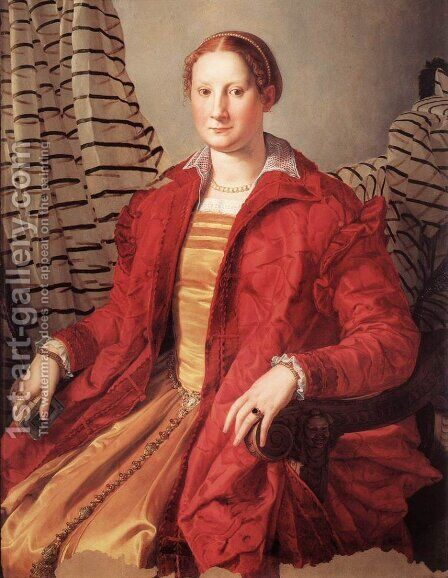 Portrait of a Lady by Agnolo Bronzino - Reproduction Oil Painting