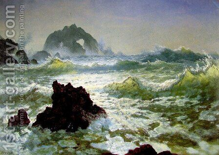 Seal Rock, California by Albert Bierstadt - Reproduction Oil Painting