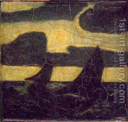 Moonlight Marine by Albert Pinkham Ryder - Reproduction Oil Painting