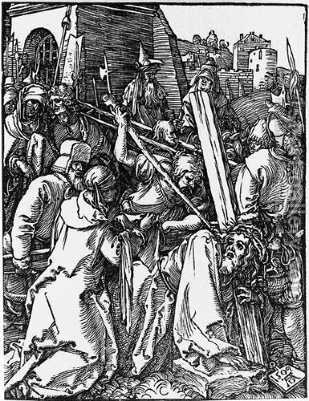 Bearing of the Cross 3 by Albrecht Durer - Reproduction Oil Painting