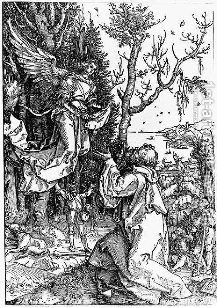 Message of Angel to Joachim by Albrecht Durer - Reproduction Oil Painting