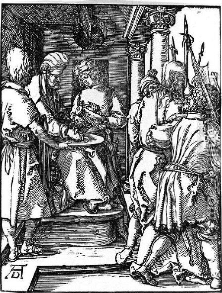 Pilate Washing his Hands by Albrecht Durer - Reproduction Oil Painting
