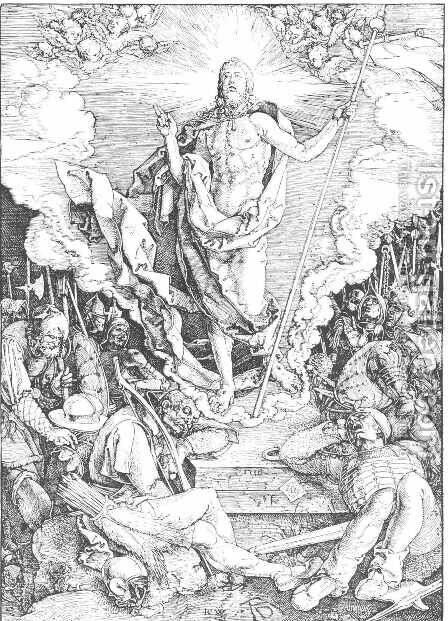 Resurrection 2 by Albrecht Durer - Reproduction Oil Painting