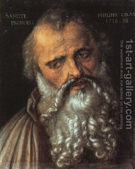 Saint Philip the Apostle by Albrecht Durer - Reproduction Oil Painting