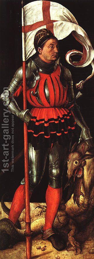 St George - Left Panel by Albrecht Durer - Reproduction Oil Painting