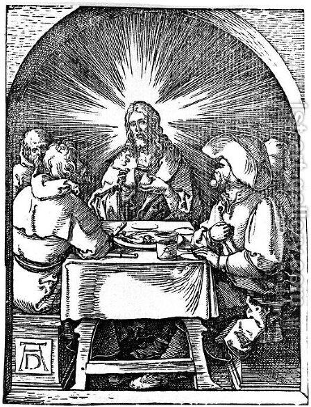 Supper at Emmaus by Albrecht Durer - Reproduction Oil Painting