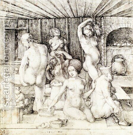 The Women's Bath by Albrecht Durer - Reproduction Oil Painting